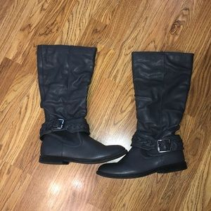 Charming Charlie Gray Boots with buckle